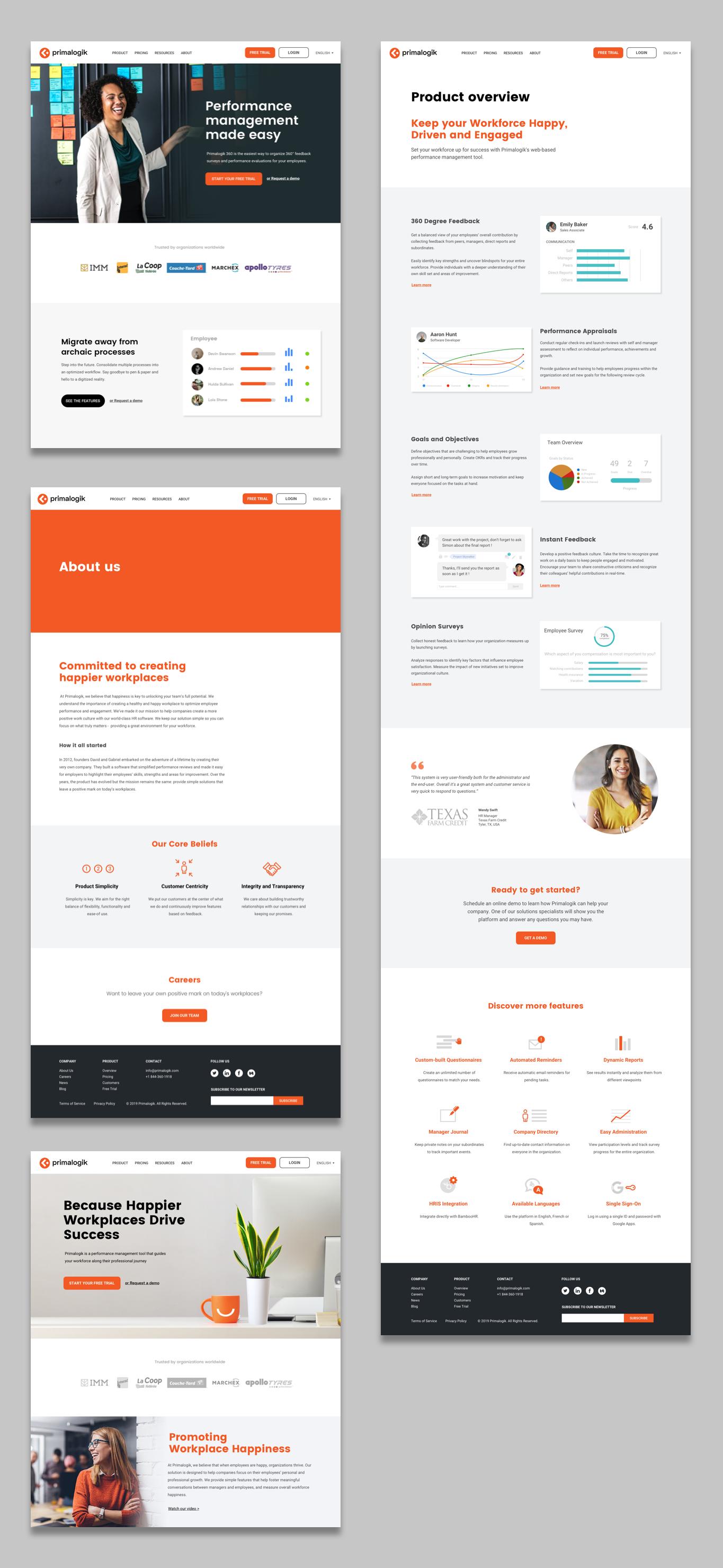primalogik marketing webpage design