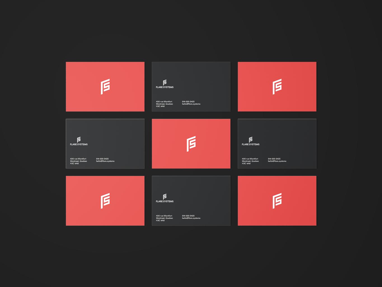 flare systems logo visual identity design