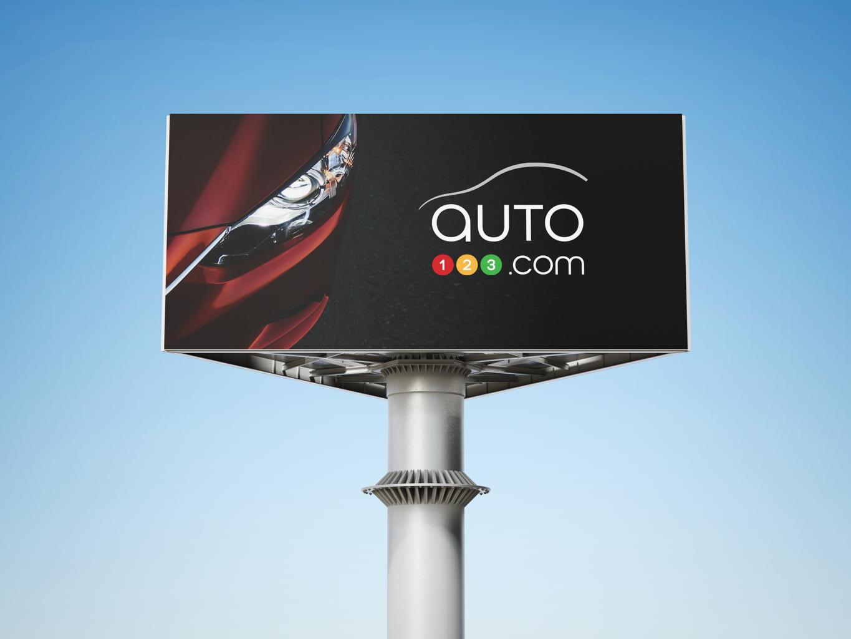 auto123 branding advertising on a billboard
