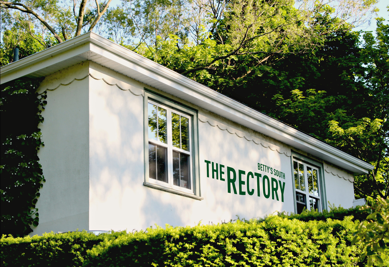 the rectory toronto bar logo painted on wall
