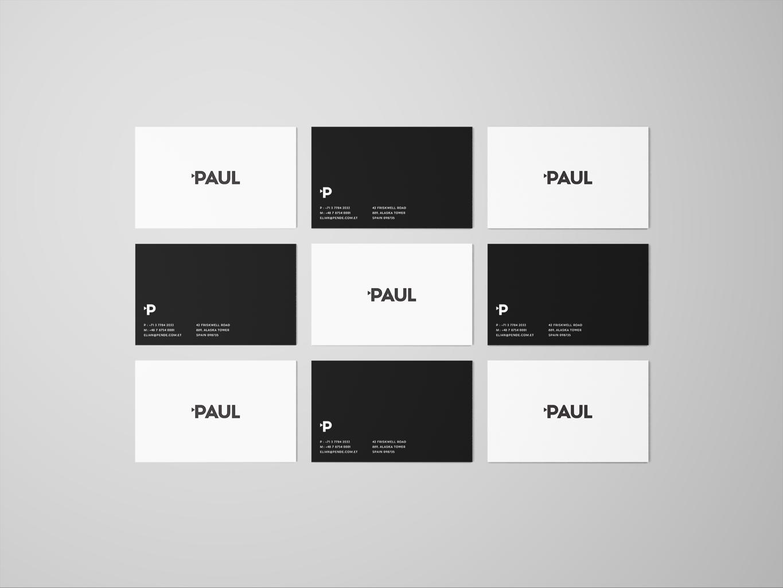 paul films identity stationery business card