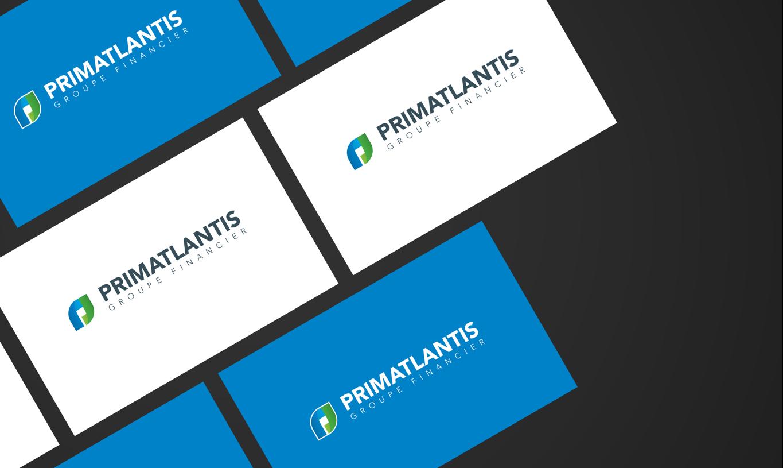 primatlantis capital finance group visuel identity design on business cards